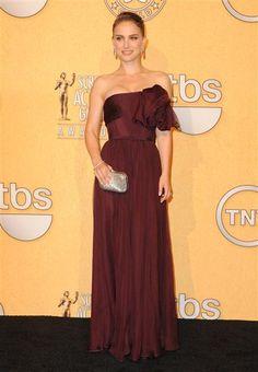 Natalie Portman in Giambattista Valli at the 2012 SAG Awards