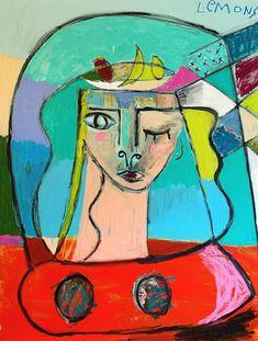 Louie DeVito Abstract Paintings, Original Paintings, Bradley Theodore, Crayon Painting, Black Jesus, Blue Lips, Wax Crayons, Spray Paint On Canvas, Painted Sticks