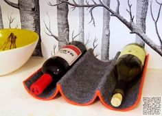 2. #Mailing Tube - 15 Easy DIY Wine Racks to Make ... → #Lifestyle #Great