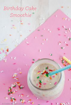 A sweet and healthy birthday cake smoothie