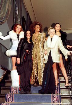 The first Spice Girls rule: a little faux fur never hurts – in fact, it's advised. While you might not want to go full throttle in yeti boots, like Geri, some chic cuffs or details on your party coat are a definite goer. Next up is leopard print. You've been doing it all season so don't stop now, from dresses to a cute jacket – you can't go wrong (ish). Lastly, Sporty and Baby were way ahead because track pants are officially back
