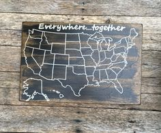 United States Map On Barn Wood Wood US Map By GrindstoneDesign - Wood us map