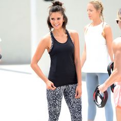 June 28th: Nina Dobrev shooting an advertisement for the new fitness clothing line of Reebok in…""