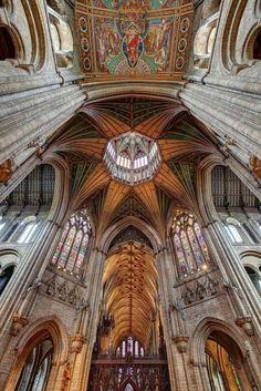 Ely Cathedral Epicentre, Cambridgeshire, England. Circa 1083