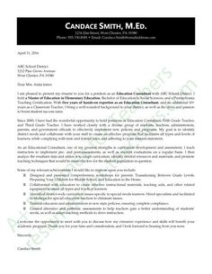 Donu0027t Miss This Education Consultant Application Letter / Cover Letter,  A.k.a. Letter Of