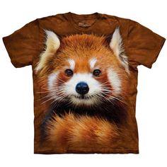 The Mountain RED PANDA PORTRAIT T-Shirt Zoo Animal Big Face Mens Sizes S-5XL NEW #redpanda #animalshirt #redpandashirt #graphictee