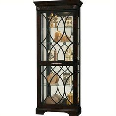 howard miller roslyn curio cabinet liked on polyvore featuring home furniture - Howard Miller Mantel Clock