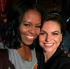 Michelle Obama & Lana Parrilla #ouat