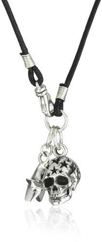 """King Baby """"Skull"""" Men's Star Skull with Star on Braided Cord Pendant Necklace King Baby. $345.00. Hand carved and handmade in the USA. Made in United States. Star skull with star on braided cord. For the chosen few"""