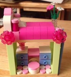 New Lego Custom Loft Bed with Dresser Lego Movie Inspired Friends City Girls…