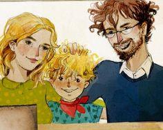 """Paul und seine Eltern. Aus dem Kinderbuch """"Willkommen in Leipzig, Paul!"""" Fictional Characters, Short Stories, Children's Books, Leipzig, Parents"""