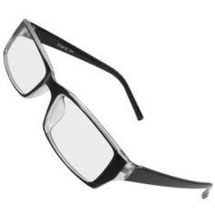 Women Men Full Rim Single Bridge Plain Glasses Black Clear