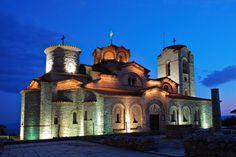 Igreja junto ao lago Ohrid, Macedónia