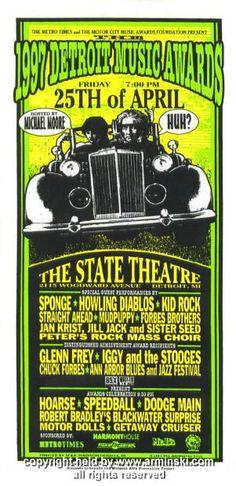 1997 Detroit Music Awards & Kid Rock Handbill Arminski (MA-9714)