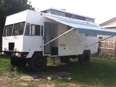 """4x4 BEDFORD """"BEAST"""" camper conversion."""