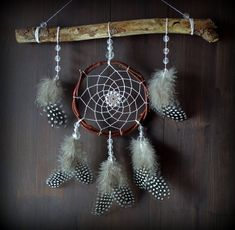 Willow dreamcatcher handmade Natural materials Dreamcatcher Boho Home Decor Native American Wall hanging Bedroom Black and White feathers Driftwood Mobile, Bedroom Black, White Feathers, Natural Materials, Dream Catcher, Autumn Nails, Black And White, Boho, Unique Jewelry