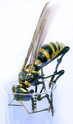 The awesome spare-parts sculpture of Edouard Martinet..it's a wasp, but I love it.