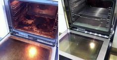 We will do it in two steps: First the oven itself and then the window. This is what you´ll need: Water, Spray bottle...