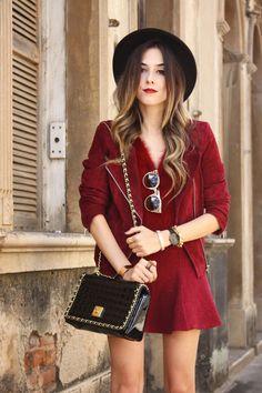 FashionCoolture - 29.03.2016 look du jour burgundy leather jacket black hat (3)