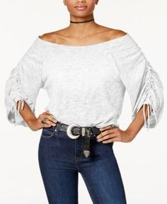 Free People Bohema Off-The-Shoulder Top - Ivory/Cream XS