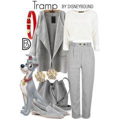 """Tramp"" | DisneyBound - Use Josephine coat, Linden sweatshirt and Hampshire pants patterns"