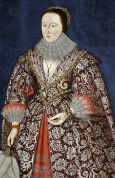 ab. 1610-1615 British (English) School - Portrait of a Lady of the Morgan Family