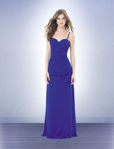 floor length spaghetti strap bridesmaid dress - Google Search