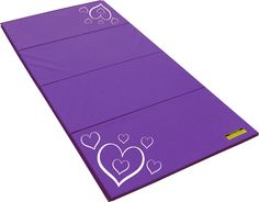 Our Hearts design tumbling mat for kids is sure to excite and delight your young gymnast. $175