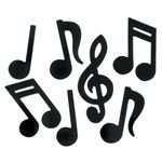 Music Note Stickers, Set of 160