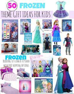 Frozen Gift Ideas, Frozen Party Ideas, 50 ideas for the ultimate FROZEN fan #Disney, #Frozen, #Elsa, #AnnaFrozen