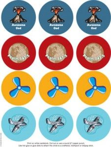 Aviation VBS Cupcake Toppers