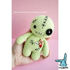 Check out this item in my Etsy shop https://www.etsy.com/listing/575390995/voodoo-doll-crochet-amigurumi-toy-green