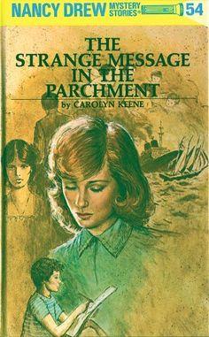 THE STRANGE MESSAGE IN THE PARCHMENT (Nancy Drew 54) by Carolyn Keene - http://www.amazon.com/gp/product/B002CIY8OM/ref=cm_sw_r_pi_alp_7N9Wqb0FJRJNG