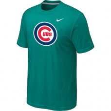 Wholesale Men Chicago Cubs Heathered Blended Short Sleeve Green T-Shirt_Chicago Cubs T-Shirt