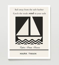 Mark Twain Quote Print Inspirational Quote Literature by Quotology, $18.00