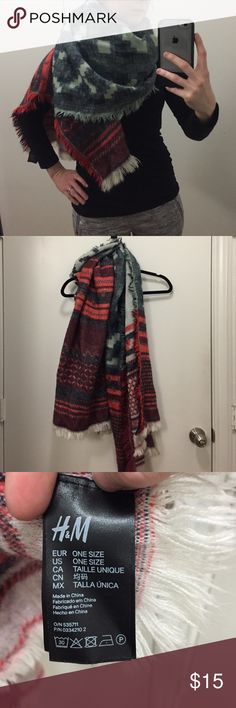 Awesome H&M blanket scarf Anthropology style blanket scarf at a fraction of the price! Perfect condition. Only selling to downsize. H&M Accessories Scarves & Wraps