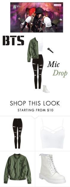 """Bts- mic drop live performance"" by mochichimchim ❤ liked on Polyvore featuring Topshop, Charlotte Russe, Dr. Martens and plus size clothing"