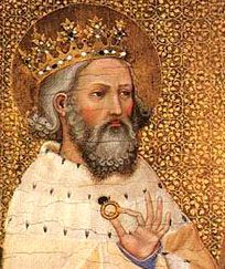 St. Edward (1003-1066), called the Confessor, was the grandson of St. Edward, king and martyr, and became king of England at the age of forty-seven. As king he was noted for his gentleness, humility, detachment and angelic purity. He preserved perfect chastity in his wedded life. So little was his