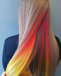 54 Crazy Pastel Hair Color Ideas For Unique Hairstyles - Beauty Tips Hidden Hair Color, Cool Hair Color, Unique Hair Color, Brown Hair Balayage, Hair Highlights, Bayalage Brunette, Hair Dye Colors, Brown Hair Colors, Peekaboo Hair Colors
