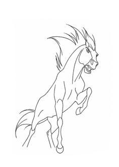 Dibujos para colorear de spirit el corcel indomable