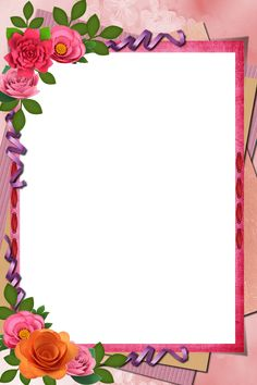 Frame Border Design, Page Borders Design, Boarder Designs, Origami Flowers Tutorial, Flower Tutorial, Flower Picture Frames, Flower Frame, Framed Wallpaper, Flower Wallpaper