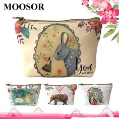 New Women Wallet Canvas Coin Purse Travel Organizer 8 Color Floral Women Storage Bag Day Clutch Card Holders Women Purse H21