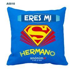 Regalos originales y personalizados en #YosoyAnonimo #Almohadas #Almohadaspersonalizadas #SuperMan Mickey Mouse, Quilting, Pillows, How To Make, Kids, Personalized Party Favors, Patterns, Scrappy Quilts, Frases