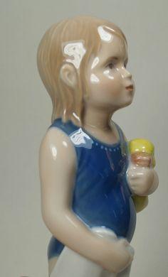 Royal Copenhagen Denmark Porcelain Girl Figurine ELSE IN SWIMSUIT WITH DUCK #678 | eBay