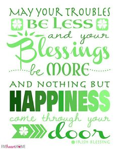 Patrick's Day Free Printable ~ Irish Blessing St Patricks Day Quotes, Happy St Patricks Day, Saint Patrick, Pomes, St Patrick's Day Decorations, Irish Quotes, Irish Sayings, Blessed Quotes, St Patrick's Day Crafts
