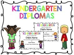 These Kindergarten Diplomas are editable! You can edit student's name, date, and school name. There are seven different combinations of various students on the diplomas. There are two versions for each diploma: a colored and a black-and-white version to help save on ink.