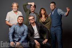 Actors Jeff Bridges Taron Egerton Pedro Pascal Colin Firth Halle Berry and Channing Tatum from Kingsman The Golden Circle are photographed for. Colin Firth Kingsman, Kingsman Cast, Kingsman The Golden Circle, Sherlock Actor, Rocketman Movie, Taron Egerton Kingsman, Jeff Bridges, Celebrity Photography, Movies