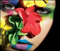 eye makeup, colors, makeup art, dramatic eyes, mac, makeup looks, beauty, flowers, bright colours