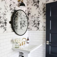 Clean, classic bathroom