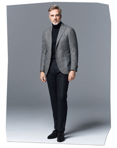 MEN'S EX 11月号 連載 | ELEMENTS OF STYLE Older Mens Fashion, Suit Fashion, Classic Suit, Groom Style, Men Looks, Business Casual, Mens Suits, Menswear, Turtle Neck